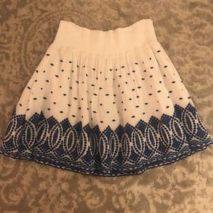 J.Crew Embroidered Skirt